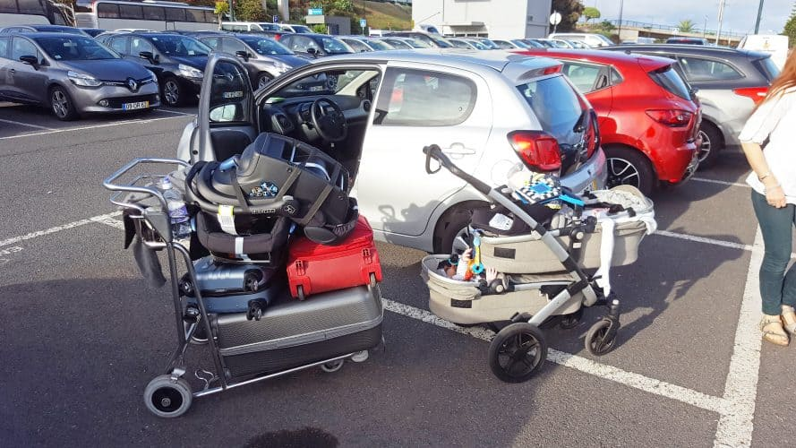 we rented a really small car in Madeira, but we manage to fit everything