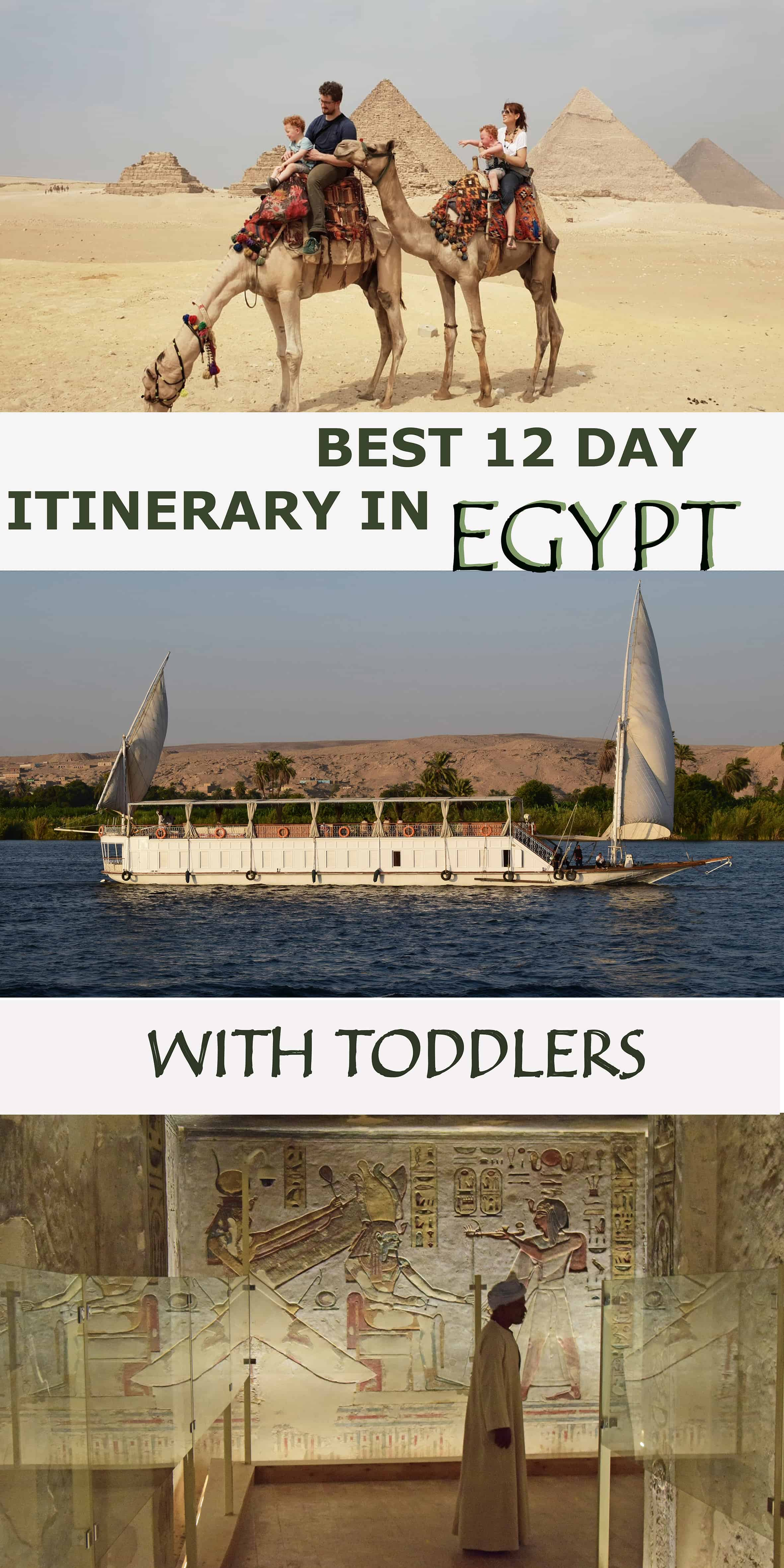 Best way to organize 12 days in Egypt visiting Cairo, Aswan, cruising the Nile, Luxor and the Red Sea...while travelling with toddlers