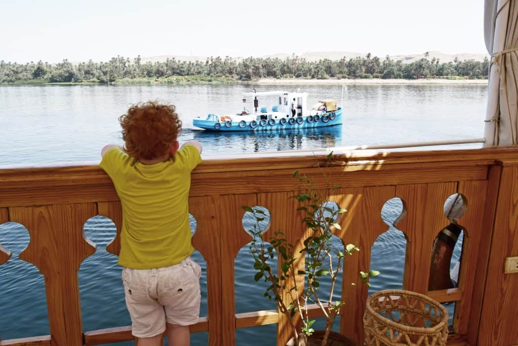 Liam on board of the Zekrayaat dahabiya