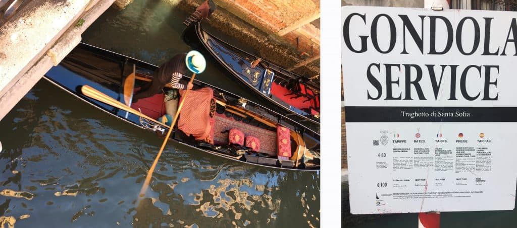 24 hours in Venice. Gondolas are usually available evry corner, if you decide to take a ride I reccomend to take it in the smaller canal instead of the Canal Grande
