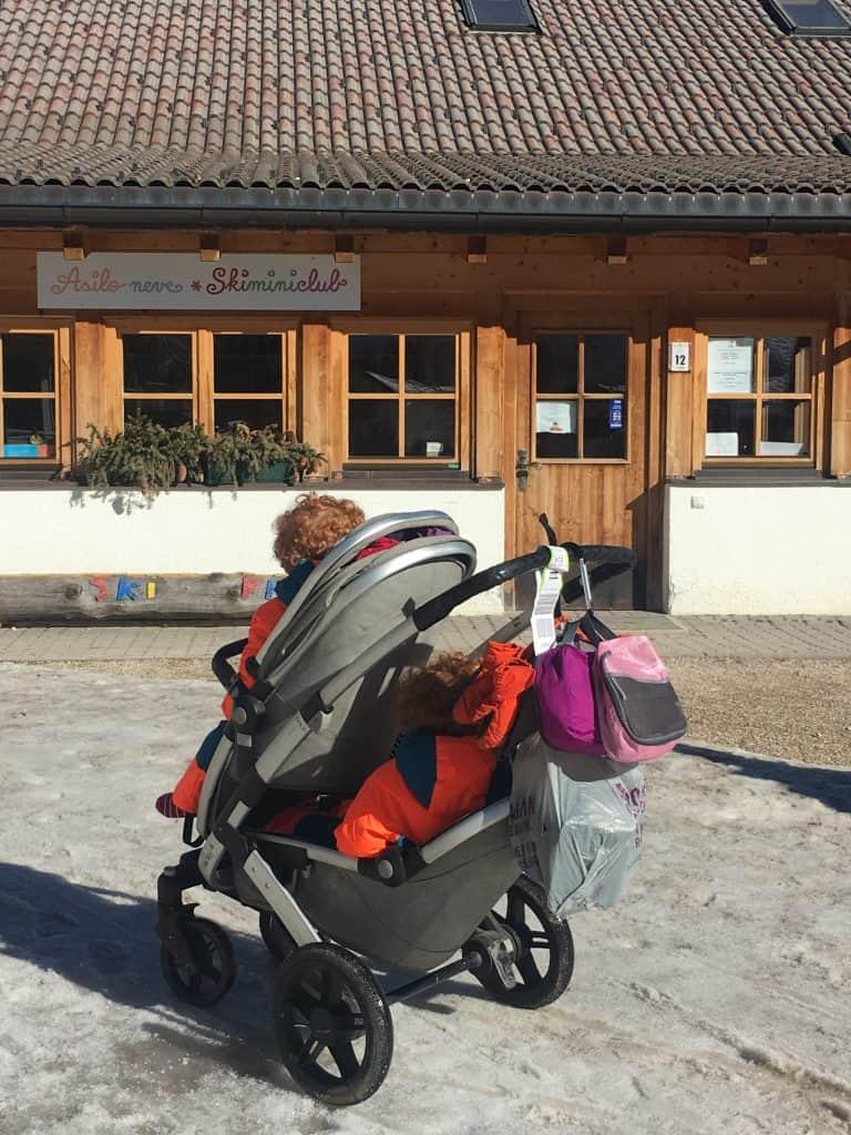 Alta Badia kindergarden on the slope