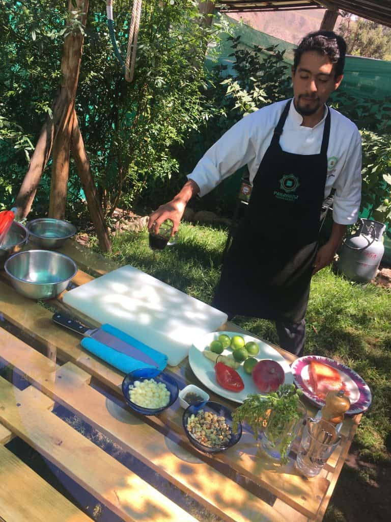 Chef Diego form Posada Pakakuna