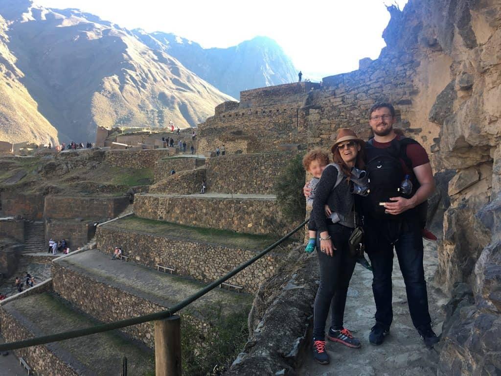 climbing Ollantaytambo