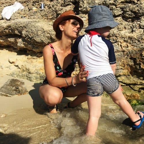 Clo and Santiago at Comino Blue Lagoon