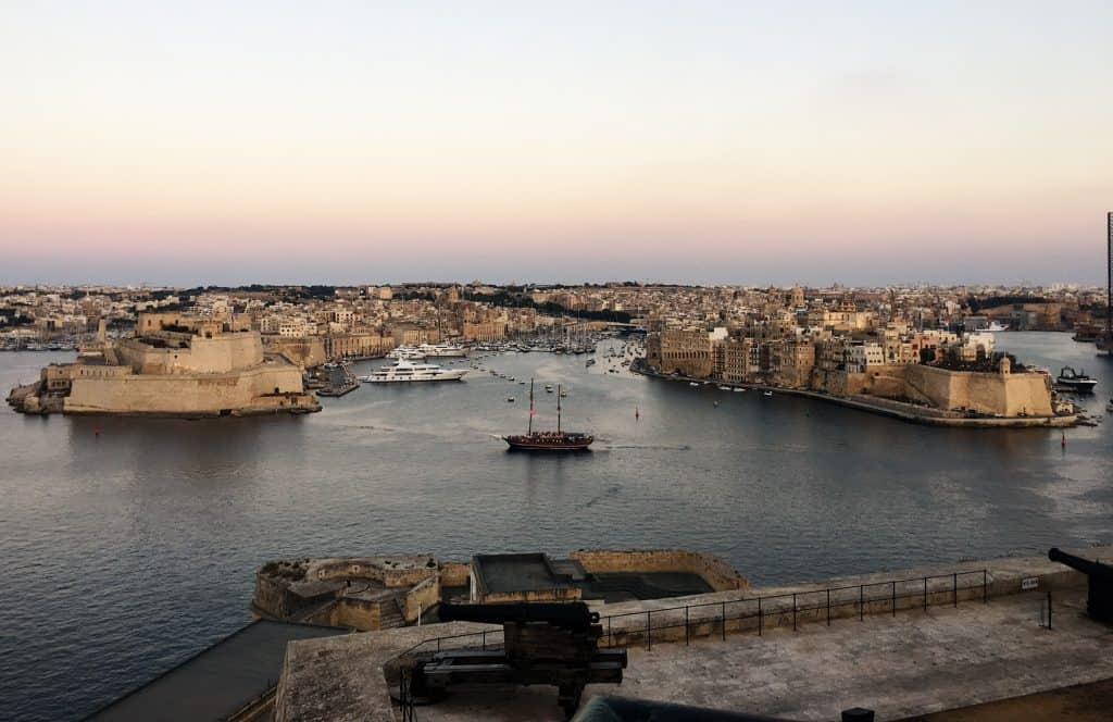 View of the 3 cities from La Valletta