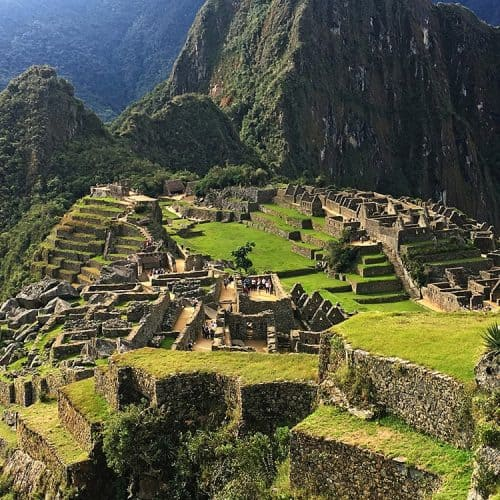 view of Machu Picchu, link to South America