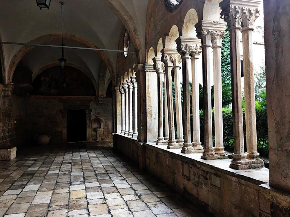 Franciscan Church and Monastery: the lovely cloister