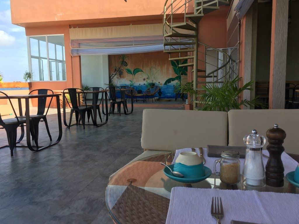 Raha restaurant on the top floor of the Liyela retreat Maldives hotel