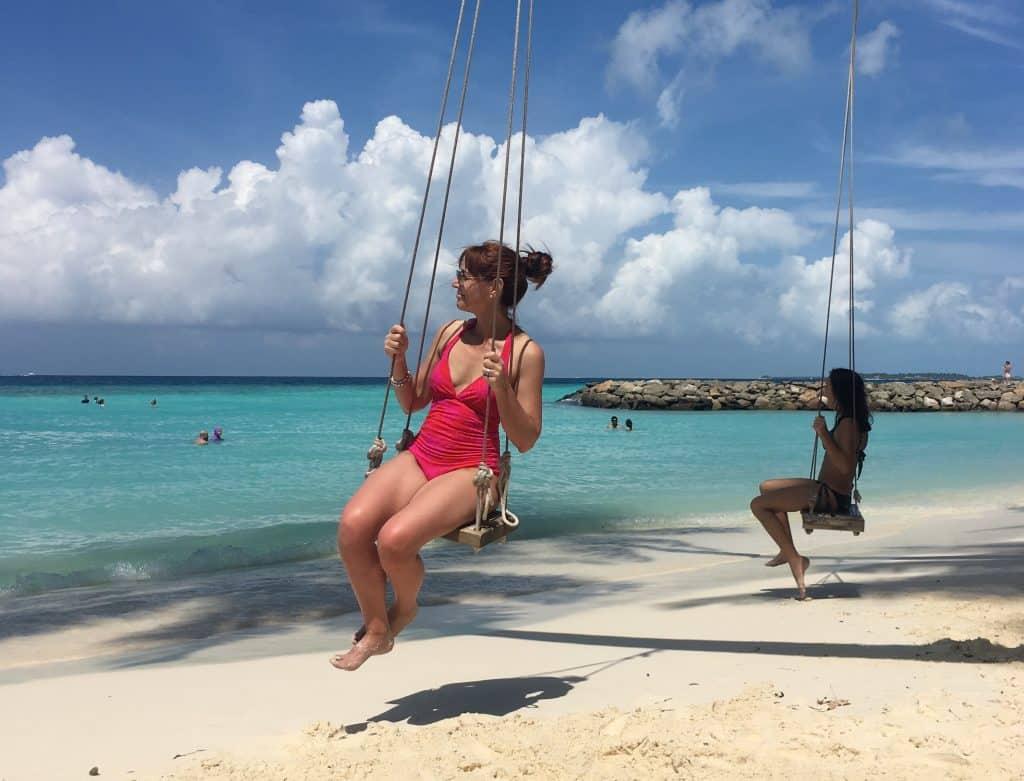 The bikini beach in Maafushi
