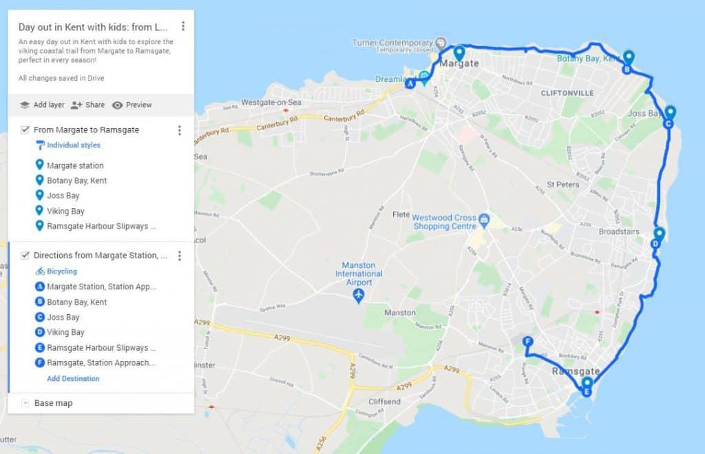 Kent coastal town map