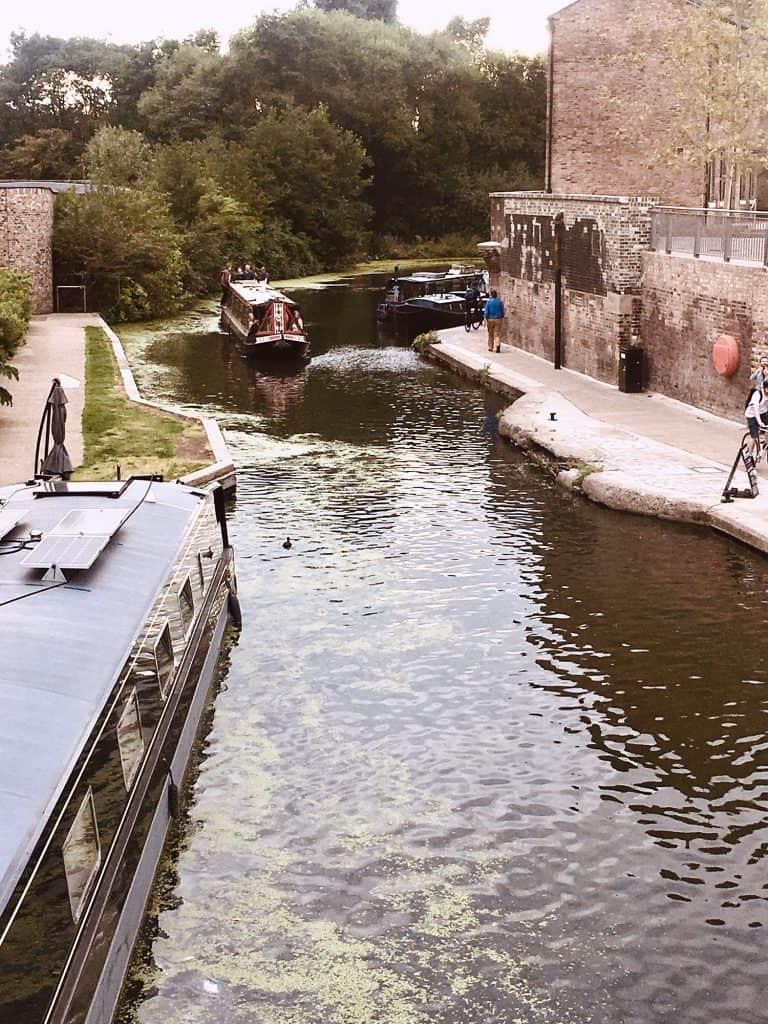 along Regents canal