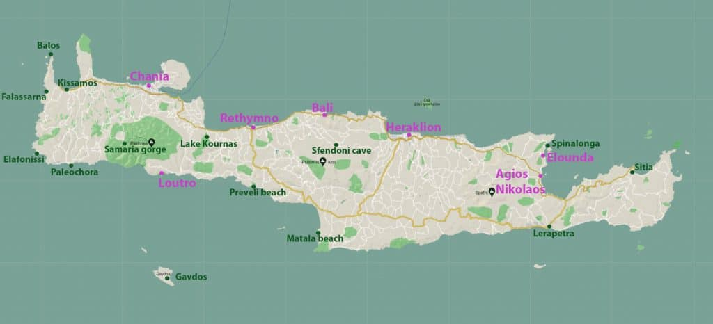 CRETE MAP WITH BASEpsd